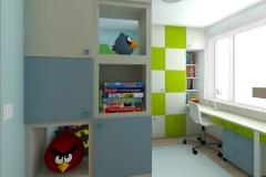 Pokój dla chłopców - na biurko i szafę od strony wejścia