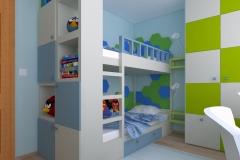 Pokój dla chłopców - na łóżko piętrowe