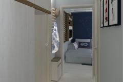 Przedpokój widok od sypialni w kierunku dużego pokoju