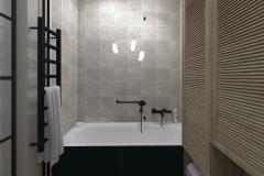 WEJHEROWO  - mała łazienka na wannę osiowo