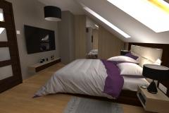 Sypialniana poddaszu  widok od prawej