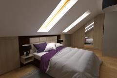 Sypialniana poddaszu  z lewej