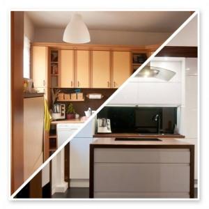 Kuchnia w Gdyni przed i po