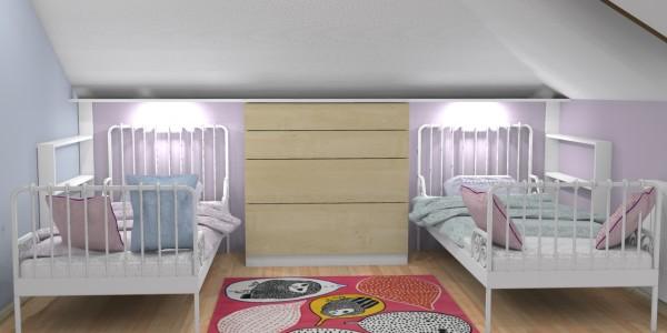 Gdynia Kamrowskiego – pokój dziewczynek