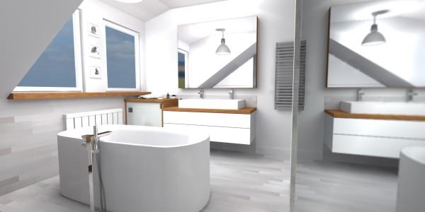 Gdynia Kettlinga – łazienka na piętrze w wykończeniu TerraTinta