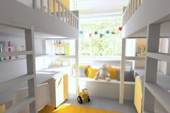 Gdynia - aranżacja w szarościach pokój dziecięcy